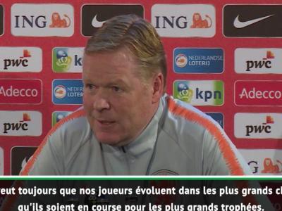 """Pays-Bas - Koeman : """"Depay devrait jouer dans un plus grand club"""""""
