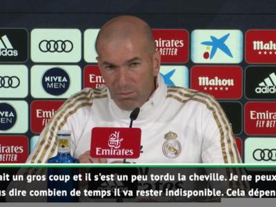 """Zidane : """" Pas quelque chose de très grave pour Hazard"""""""