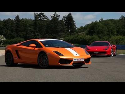 Comparatif Ferrari 458 Italia / Lamborghini Gallardo 550-2 Valentino Balboni