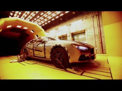 Les tests en souffleries de la Maserati Ghibli