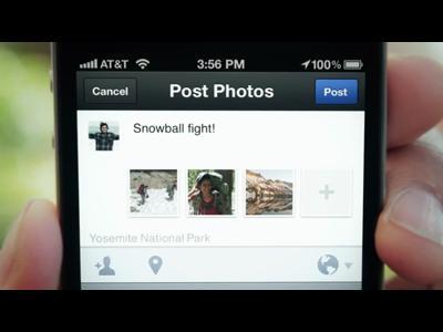 Facebook Camera montre le bout de son objectif