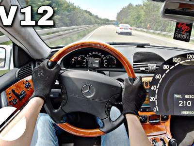 Une Mercedes-Benz CL 600 Brabus à l'assaut de l'Autobahn à 260 km/h en vidéo