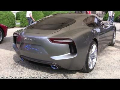 La Maserati Alfieri fait entendre son V8 à Villa d'Este