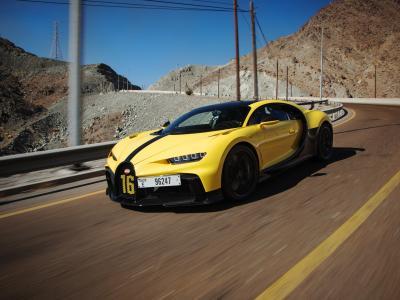La Bugatti Chiron Pur Sport répète ses gammes dans les montagnes dubaïotes