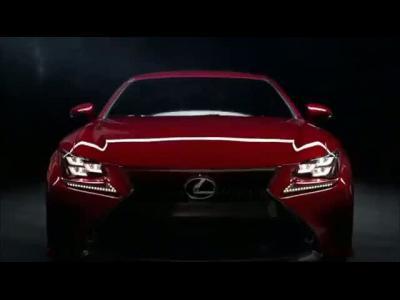 Lexus RC : le rouge est de mise dans son clip de promotion