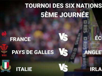 Tournoi des Six Nations : les résultats de la 5ème journée