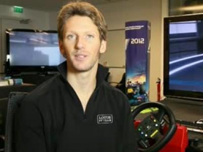 Romain Grosjean teste F1 2012