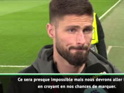 "Giroud : ""La qualification ? C'est presque impossible"""
