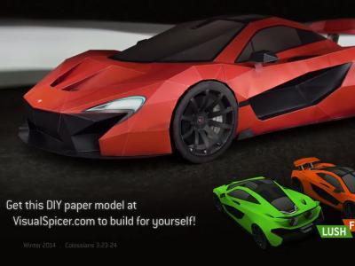 Incroyable : il reproduit la McLaren P1 en utilisant du papier kraft