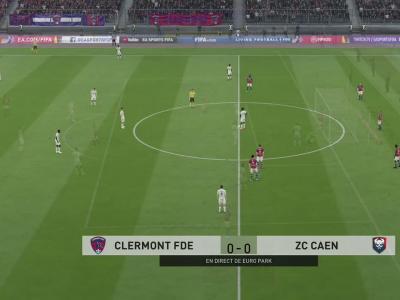Clermont Foot 63 - Stade Malherbe de Caen sur FIFA 20 : résumé et buts (L2 - 37e journée)