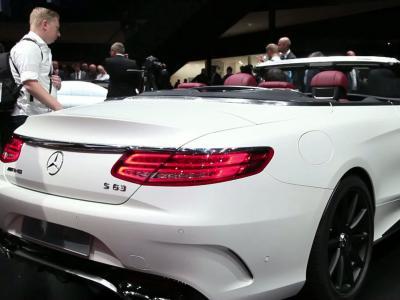 Francfort 2015 : Mercedes Classe S Cabriolet