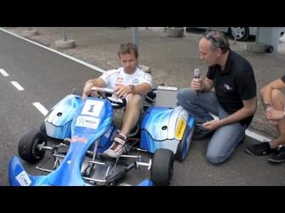 Sébastien Loeb test un karting électrique