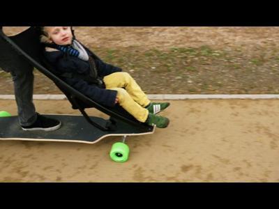 Le longboard poussette