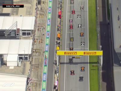 Grand Prix de Styrie de F1 : le replay du départ