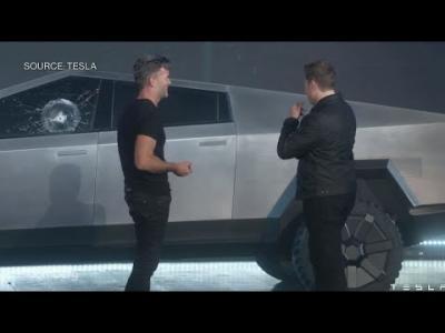 La vitre blindée du Tesla Cybertruck ne résiste pas au test