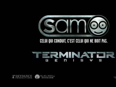 Terminator se joint à Sam pour promouvoir la Sécurité routière