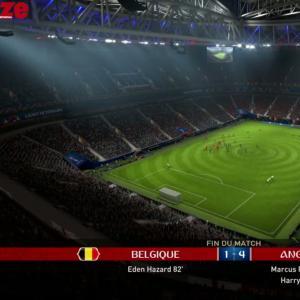 Belgique - Angleterre : notre simulation sur FIFA 18