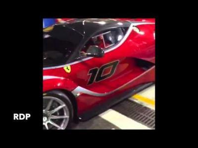 Première vidéo sur circuit de la Ferrari FXXK