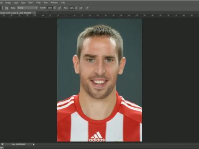 Franck Ribery retouché