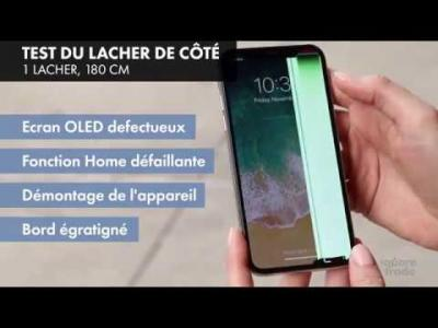 iPhone X : test de résistance par Square Trade Labs