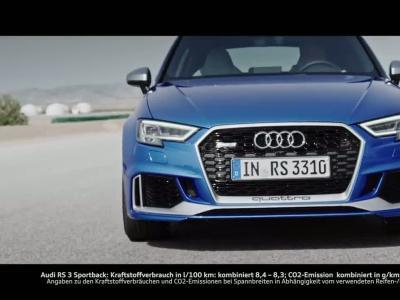 Audi RS3 Sportback restylée : 400 ch grâce au cœur du TT RS