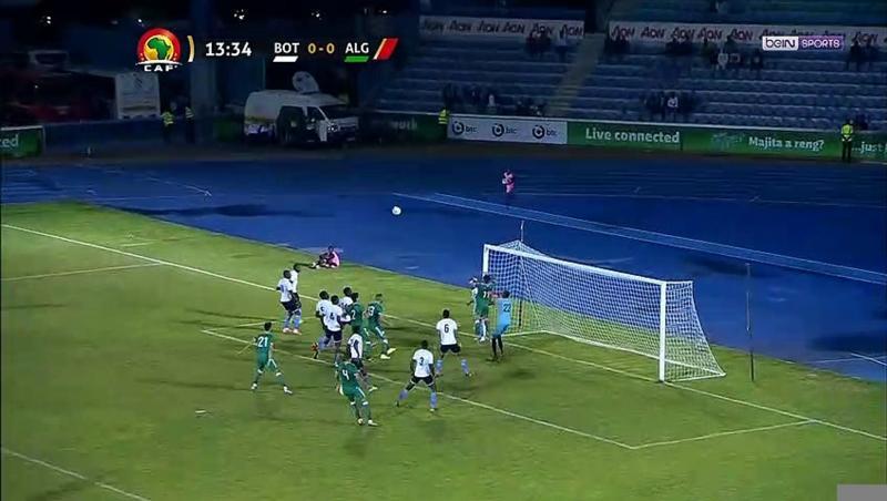 Botswana - Algérie : le corner direct de Belaïli !