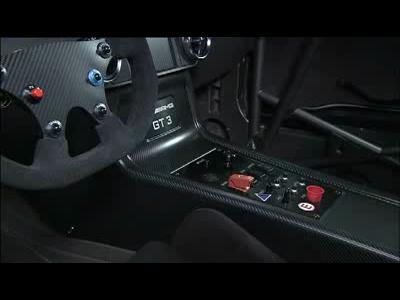 Mercedes SLS AMG GT3, l'intérieur