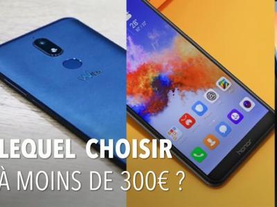 Smartphones borderless : notre sélection à moins de 300 euros