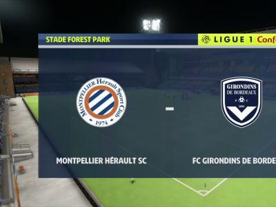Montpellier HSC - Girondins de Bordeaux sur FIFA 20 : résumé et buts (L1 - 35e journée)