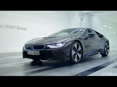 Des images de la conception allégée de la BMW i8