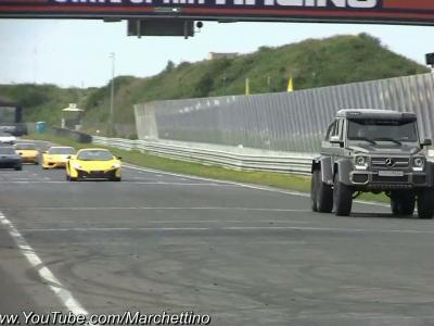 Une Mercedes G63 AMG 6x6 improbable sur la piste !
