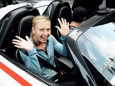 Mark Webber et Maria Sharapova s'entendent bien en 918 Spyder