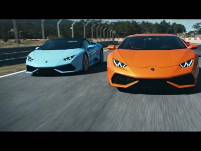 Toute la gamme Lamborghini Huracan s'affronte sur circuit