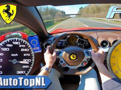Une Ferrari FF lancée à 320 km/h sur une autoroute allemande