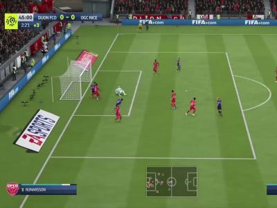 Dijon FCO - OGC Nice sur FIFA 20 : résumé et buts (L1 - 31e journée)
