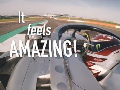 Mercedes W10 EQ Power+ : premiers tours de roue avec Lewis Hamilton