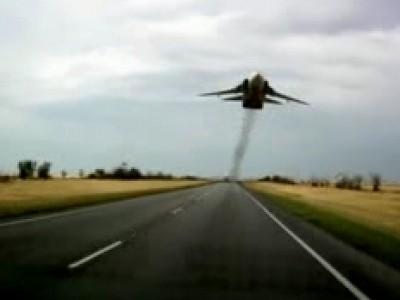 Drole de rencontre sur une route russe