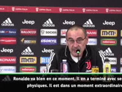 Juventus : Sarri encense Cristiano Ronaldo