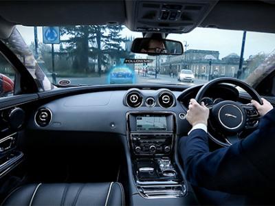 Jaguar prépare un pare-brise à affichage dynamique