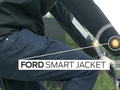 Ford Smart Jacket : la veste connectée pour cyclistes en vidéo