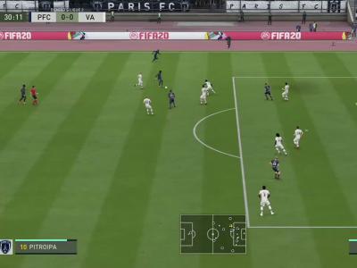 Paris FC - Valenciennes FC sur FIFA 20 : résumé et buts (L2 - 36e journée)