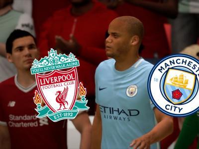 Simulation de Liverpool - Manchester City, 1/4 de finale aller de Ligue des Champions