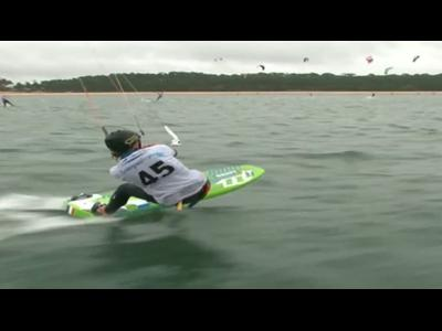 Kitesurf speed-crossing : Maxime Nocher fait carton plein