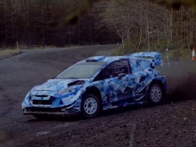 La Ford Fiesta WRC 2017 de Sébastien Ogier en action