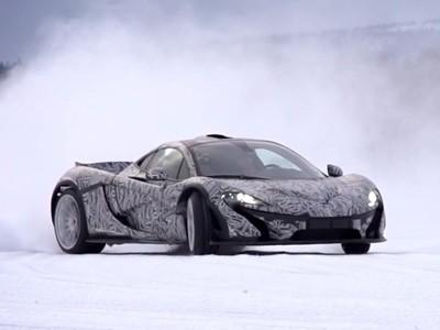McLaren P1 on ice !