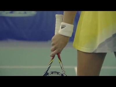 Kristina Mladenovic à l'entrainement