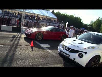 Une 599 GTO battue par deux SUV à l'accéleration