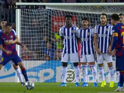 Barça - Valladolid : le superbe coup-franc de Lionel Messi en vidéo !