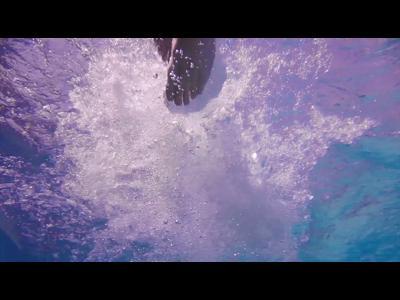 100 m freestyle par Alain Bernard