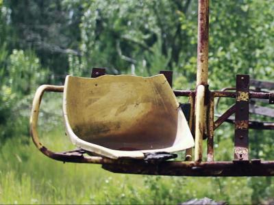 Les vestiges de Tchernobyl filmés par un drone
